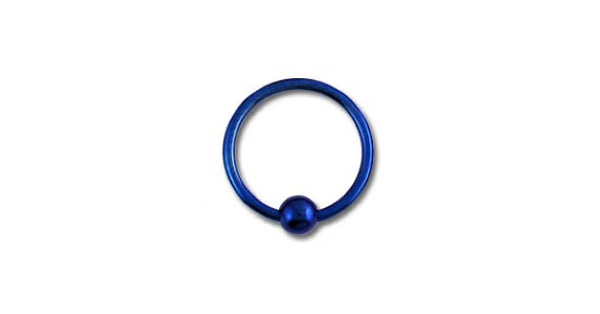 piercing labret anneau titane grade 23 anodis bleu marine fermeture boule. Black Bedroom Furniture Sets. Home Design Ideas