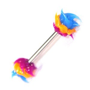 Piercing Téton Silicone Biocompatible Violet / Orange / Bleu