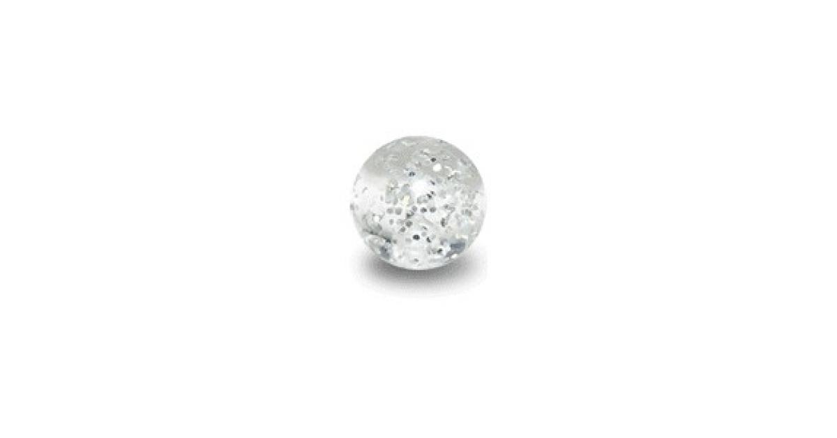 Acrylic Uv Transparent Piercing Glitter Only Ball