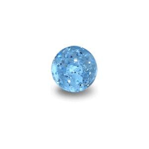 Bola de Piercing Acrílico Azul Claro UV Lentejuelae