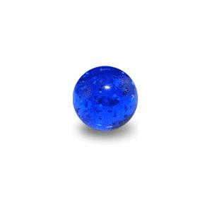Boule de Piercing Acrylique Bleue Foncé UV Scintillante