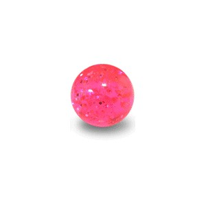 Acrylic UV Pink Piercing Glitter Only Ball