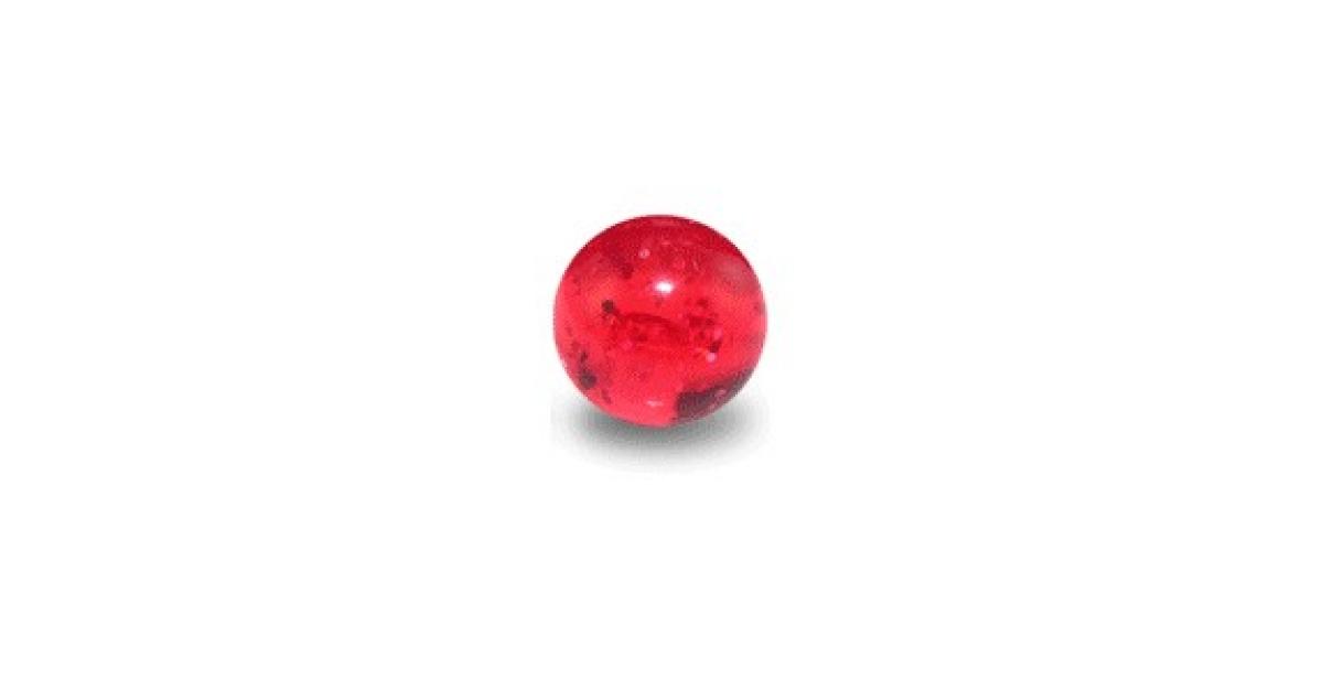 boule de piercing acrylique rouge uv scintillante. Black Bedroom Furniture Sets. Home Design Ideas