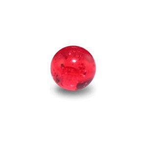 Acrylic UV Red Piercing Glitter Only Ball
