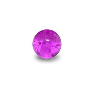 Boule de Piercing Acrylique Violette UV Scintillante