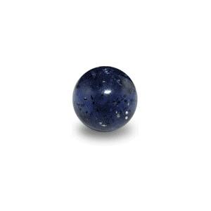Boule de Piercing Acrylique Noire UV Scintillante
