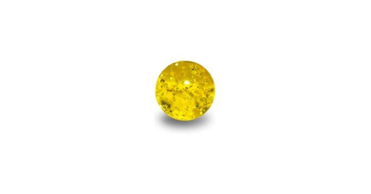 boule de piercing acrylique jaune uv scintillante. Black Bedroom Furniture Sets. Home Design Ideas