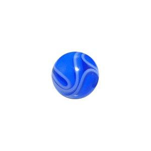 boule de piercing acrylique bleue fonc uv marbr e. Black Bedroom Furniture Sets. Home Design Ideas