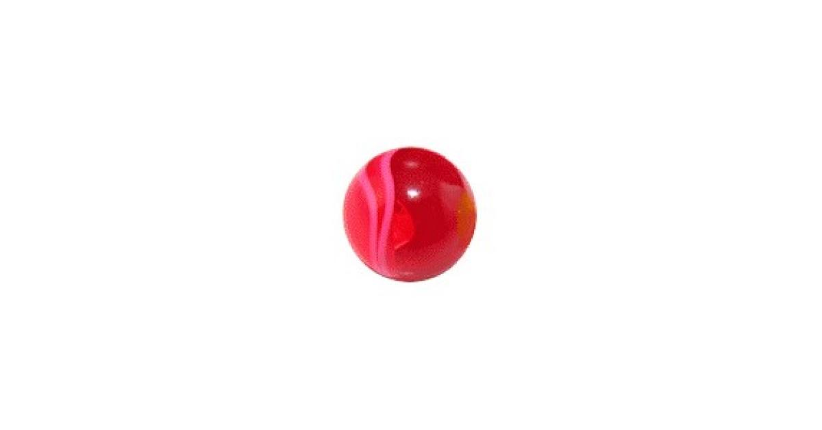 boule de piercing acrylique rouge uv marbr e votre piercing. Black Bedroom Furniture Sets. Home Design Ideas