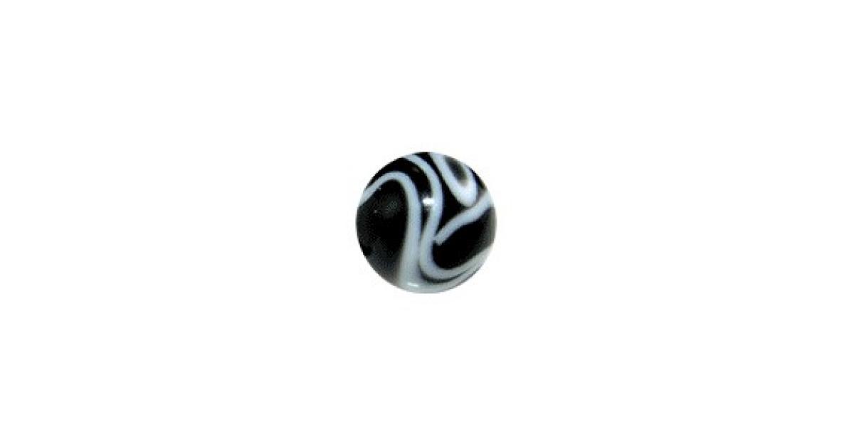 boule de piercing acrylique noire uv marbr e votre piercing. Black Bedroom Furniture Sets. Home Design Ideas