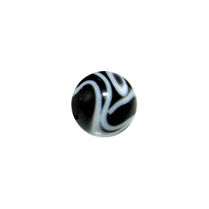 Acrylic UV Black Piercing Marbled Only Ball