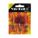 Piercing Vibrante Lengua Vib-Bell Silicona Biocompatible Rojo / Negro