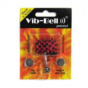 Red / Black Biocompatible Silicone Vib-Bell Vibrating Tongue Ring