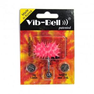 Pink / Pink Biocompatible Silicone Vib-Bell Vibrating Tongue Ring