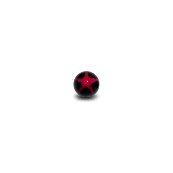 boule de piercing acrylique uv etoile rouge noir. Black Bedroom Furniture Sets. Home Design Ideas