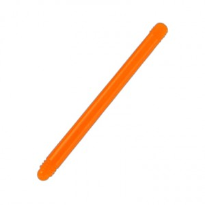 Orange Bioflex/Bioplast Straight Barbell Bar