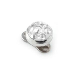 Rund Strass Kristall Weiß für Microdermal Piercing / Dermal Anchor