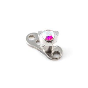 Strassstein Schmetterling Mehrfarbig für Microdermal Piercing / Dermal Anchor