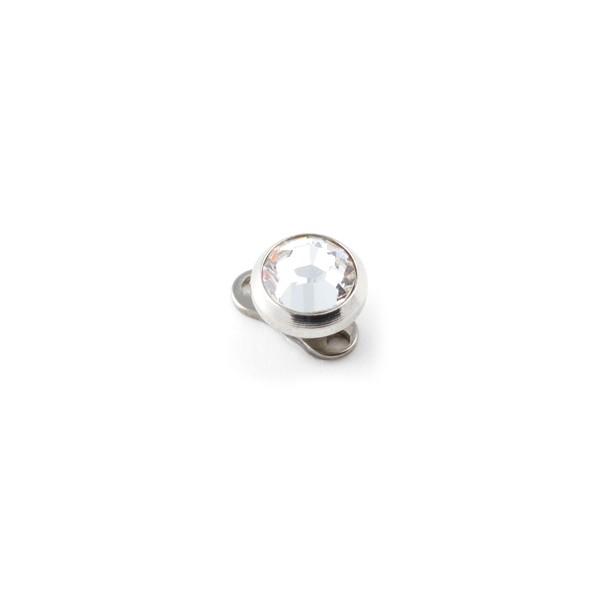 forme élégante détails pour super mignon White Strass Round Top for Microdermal Piercing