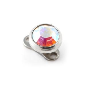 Rond Strass Multicolore pas cher pour Piercing Microdermal