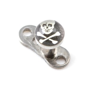 Pirate Logo Top for Microdermal Piercing