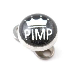 PIMP Logo Top for Microdermal Piercing