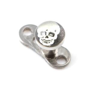 Logo Tête de Mort pour Piercing Microdermal