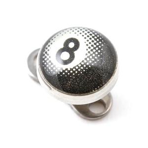 Logo Pool 8 Blanc pour Piercing Microdermal
