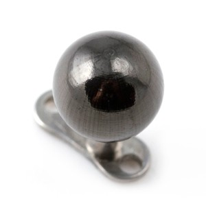 Kugel Schwarz Chirurgenstahl 316L für Microdermal Piercing / Dermal Anchor
