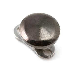 Disque Noir en Acier Chirurgical 316L pour Piercing Microdermal pas cher
