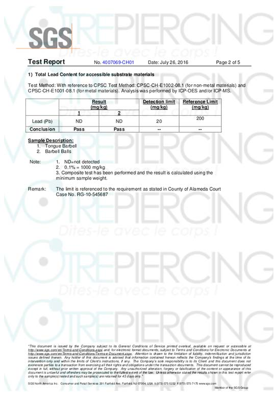 Material Quality - Information Center - Votre Piercing